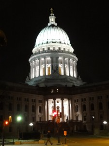 Wisconsin state capitol, March 12, 2011