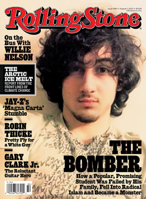 The infamous Rolling Stone cover, featuring terror suspect Dzhokhar Tsarnaev