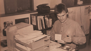 Kevin Featherly, back in his pre-blogger (in fact, pre-blog) days with the Waseca County News.