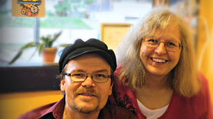 Me and the love of my life, Tammy Nelson, the sender of the most important message I have ever received. Photo: Jane Vallie Amdahl.