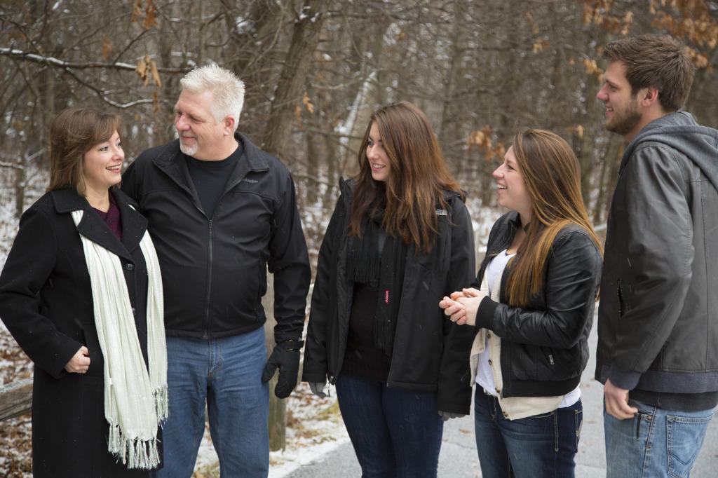 The Bieniek family, Dec. 26, 2014. Photo: Kevin Featherly.